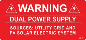 Warning dual power supply