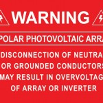 03-S Warning Bipolor Photovoltaic Array