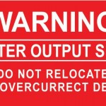09-S Warning Inverter Output Supply