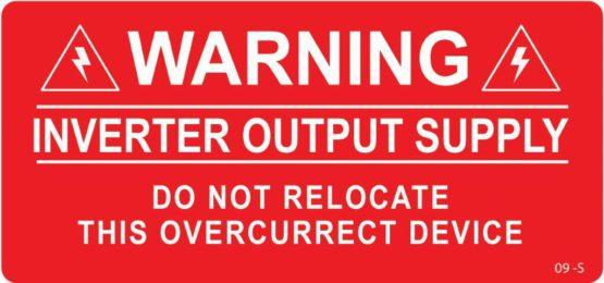 Warning Inverter Output Supply