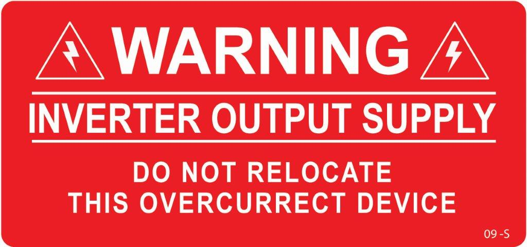 Warning Inverter Output Supply