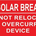 23-S PV Solar Breaker Do Not Relocate This Overcurrent Device