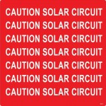 26-S Caution Solar Circuit – Conduit Wrap