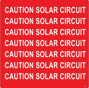 Caution Solar Circuit