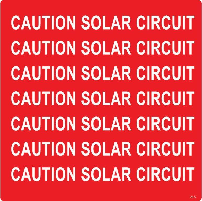 Caution Solar Circuit