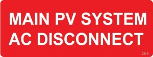 Main PV System AC Disconnect
