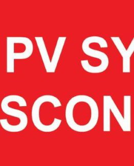 Main PV System DC Disconnect