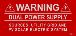 Warning Dual Power Supply