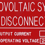 Photovoltaic System Disconnect (Engraved)