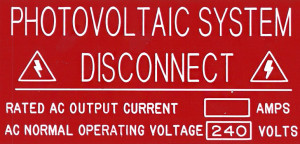 Photovoltaic System Disconnect