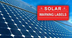 Solar Warning Labels